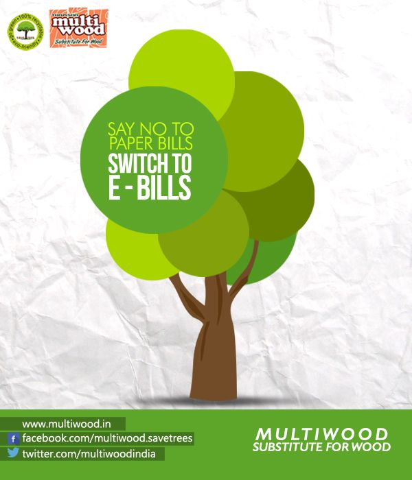 say no to paper bills switch to e