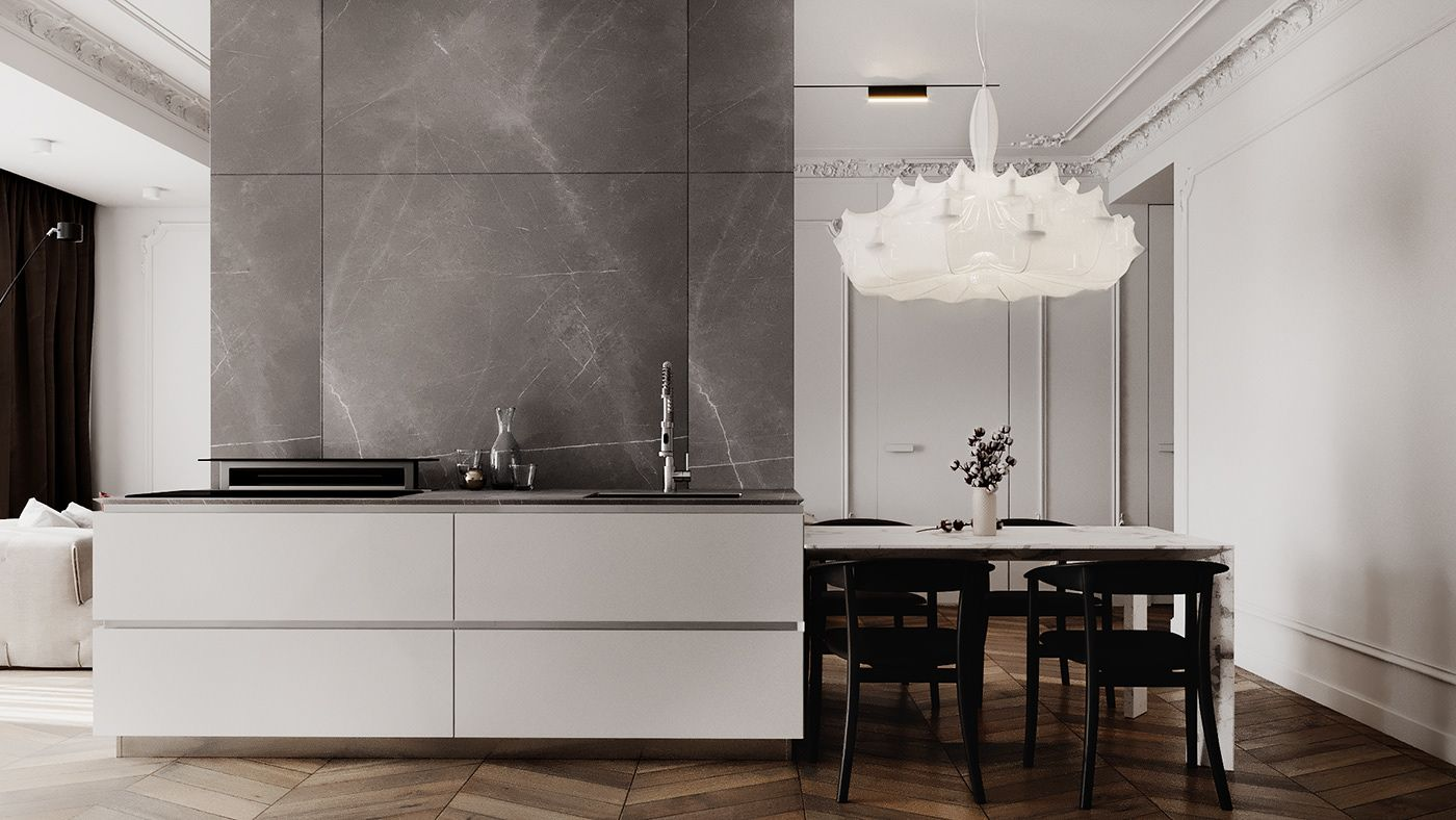 Behance 搜索 3d interior design, Residences, Apartment