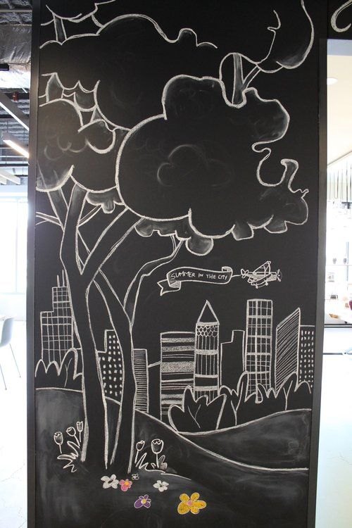 Art Studio Chalkboard Drawing