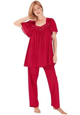 c0f512f76b673 Silky soft tricot 2-pc pjs by Only Necessities® | Plus Size Pajamas - Sets  | Woman Within
