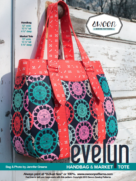 Evelyn Handbag & Market Tote | Swoon Sewing Patterns | Pinterest ...