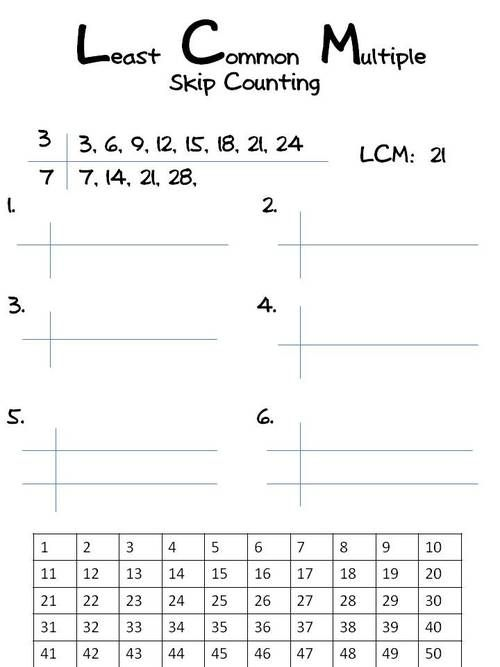 Classroom Collective Least Common Multiple Common Multiples Word Problem Worksheets