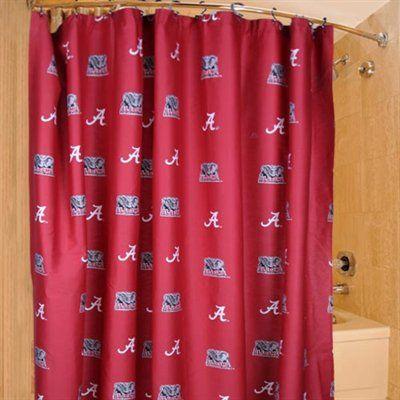 Rolltide Bathroom Shower Curtain Ncaa Collegefootball For Great