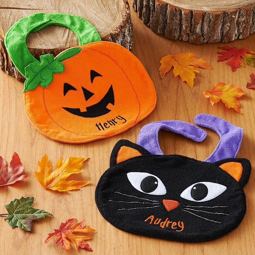Shaped Halloween Bib Halloween / Fall Pinterest Bibs and - how to make halloween decorations for kids