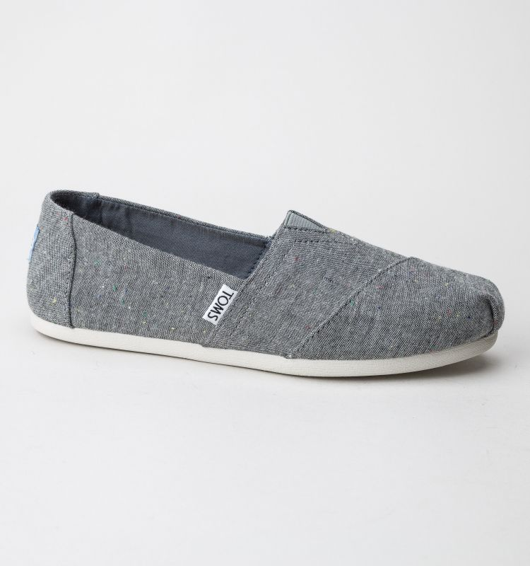 TOMS Classic 10009749 Black Multi Speckle Chambray shoes