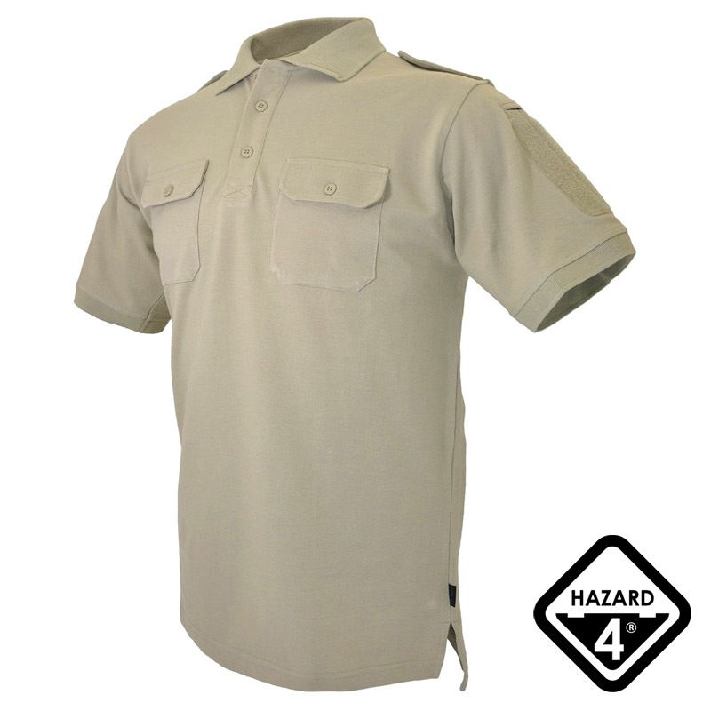 5f2b64ad Breathable and lightweight Hazard 4 Quickdry LEO Polo Shirt comes with a  no-roll collar, classic 3-button neck, 4 functional pockets, shoulder  epaulettes ...
