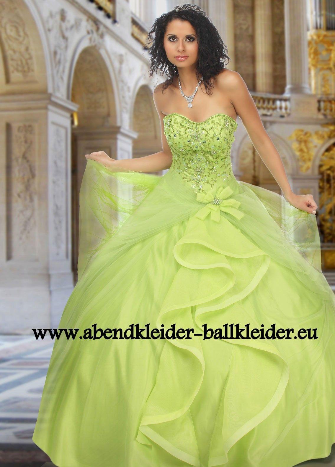 Gala Kleid Abendkleid Ballkleid Online in Hell Grün | Ballkleider ...