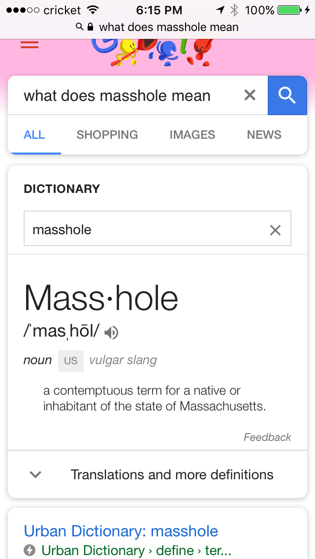 You know your from Boston when you take being called a