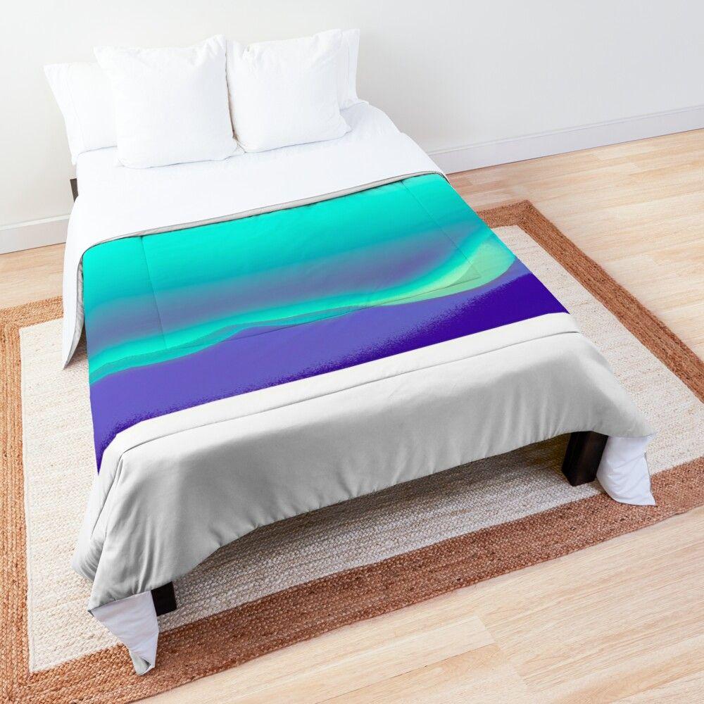 'Aurora over Purple Mountains' Comforter by tony skerl #purpledormrooms