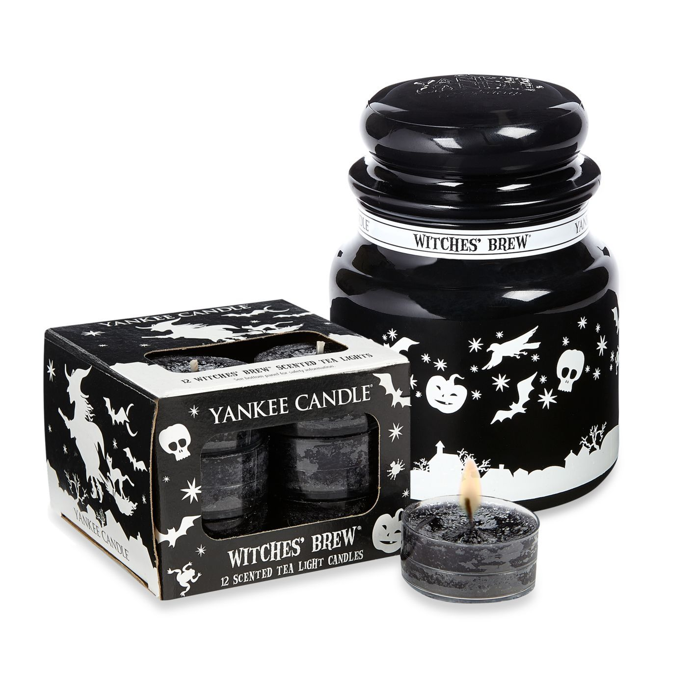 I recommend using yankee candle witchesu brew the smell is really