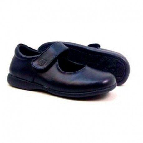 3116274651139 zapatos escolares para niña en azul marino con cierre de velcro.   shopping