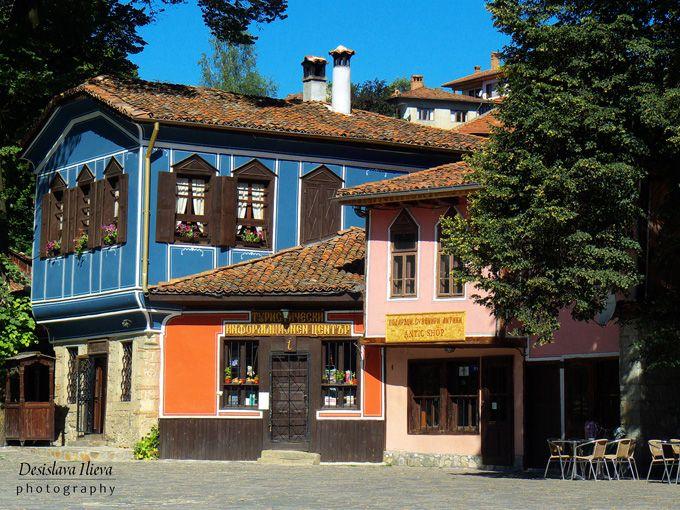 Городок Копривштица в Болгарии