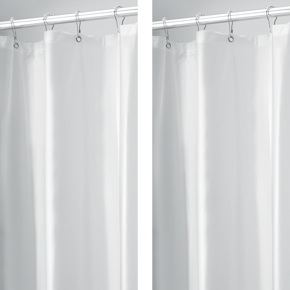 Stall Size Vinyl Shower Curtain Liners In Frost 54 X 78 Pack