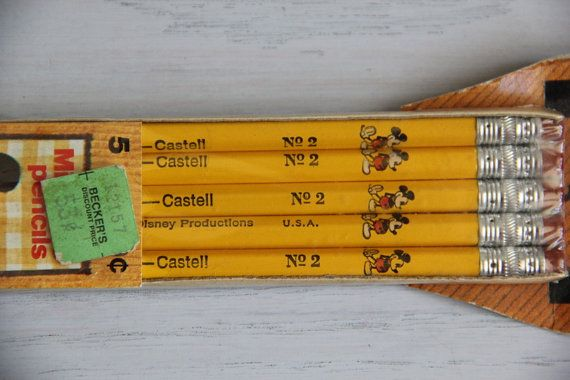 vintage mickey faber castell pencils on etsy 3800