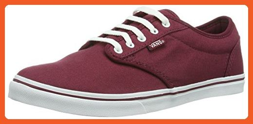 VANS Women's Shoes Atwood Low Burgundy White Sneakers (9