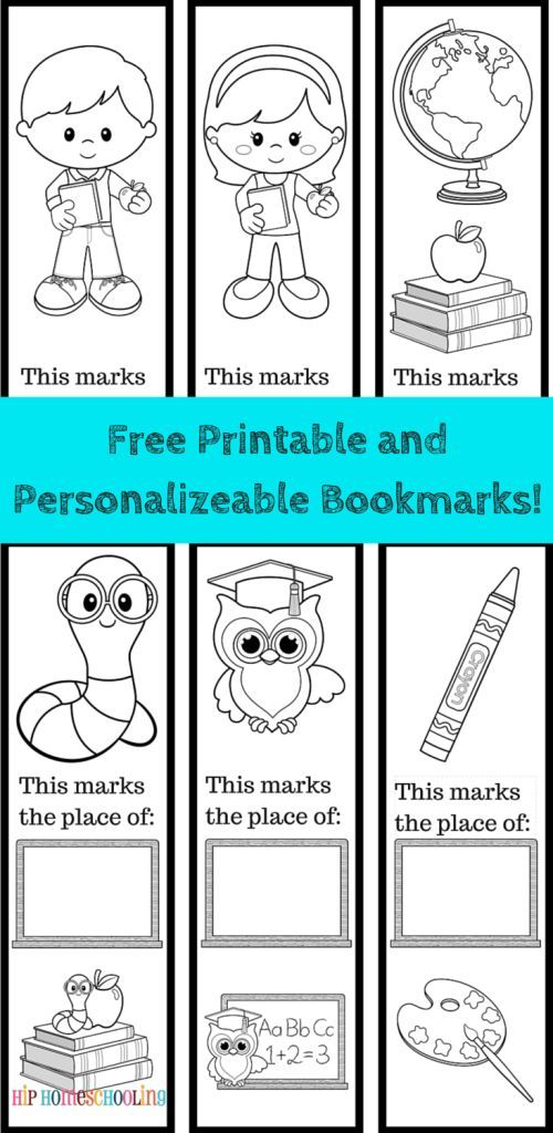 FreePrintable Bookmarks To Color And Personalize 6 Included Black White Come Grab Them Now Print Decorate Laminate Use Over Again