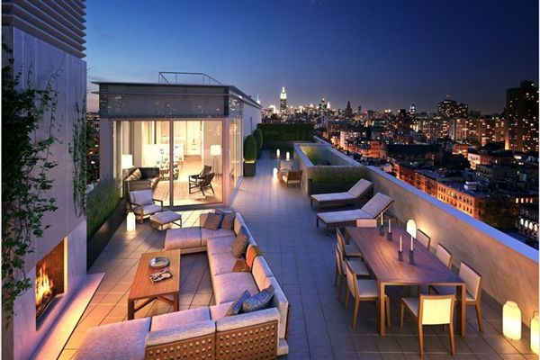 Dramatic luxury home at one vandam new york luxury homes for Penthouses for sale in manhattan
