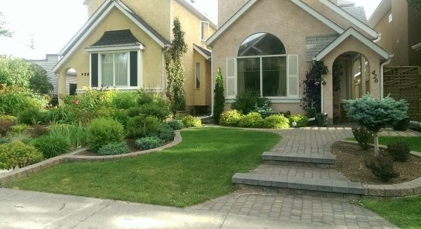 Landscaping between houses is the best example you will find of ...