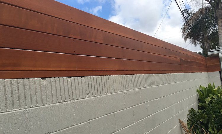 Wall Toppers Privacy Fence Harwell Design Fences Driveway Gates Los Angeles Santa Monica Cinder Block Walls Backyard Fence Design