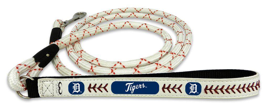 Detroit Tigers Baseball Leather Leash - L