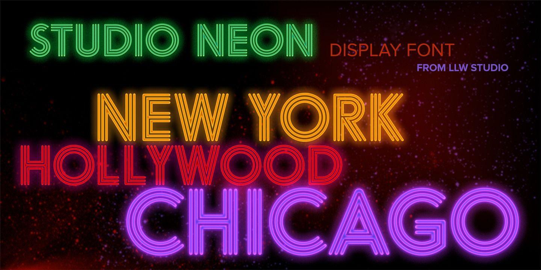 Studio Neon Neon, Font examples, Cool fonts