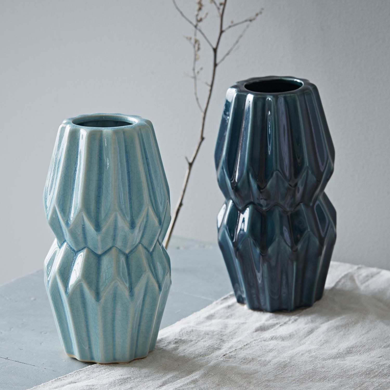 Origami vase turquoise beautiful origami vase in gorgeous turquoise and a deep sea colour this simple yet effective floridaeventfo Images