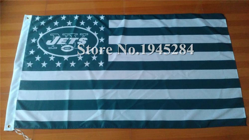 NFL New York Jets US Star Stripe Flag 3x5ft 150X90cm Banner Polyester Flag, free shipping