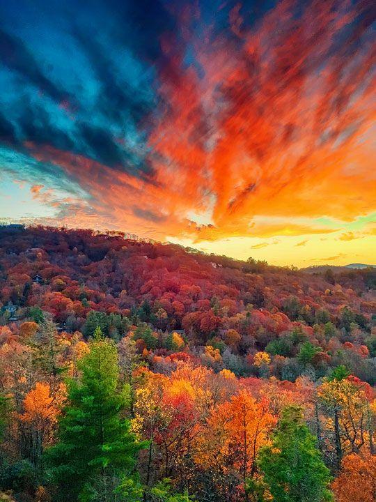 Fall Sunset in Highlands, North Carolina | Travel | Nature ...