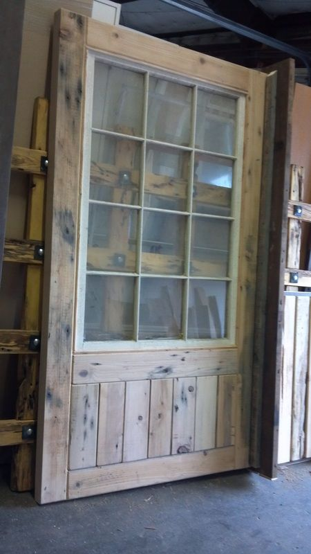 Swinging Barn Door With Windows For The East Bay Of The Barn Floral