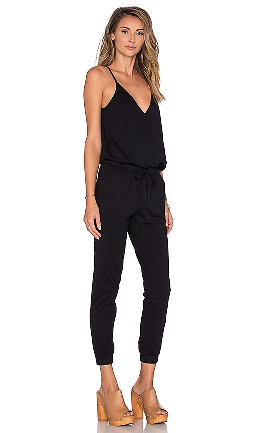 13e3da2e8199 Shop for Bobi Supreme Jersey Surplice Jumpsuit in Black at REVOLVE. Free  2-3 day shipping and returns