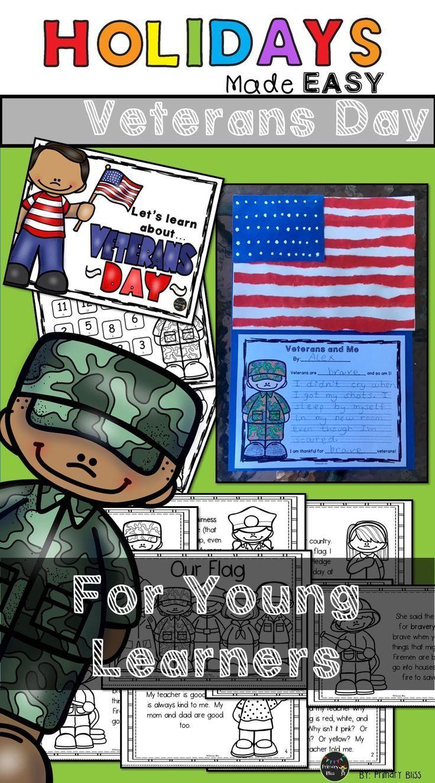 Veterans Day Mini Unit Reading, Writing & Art Activities