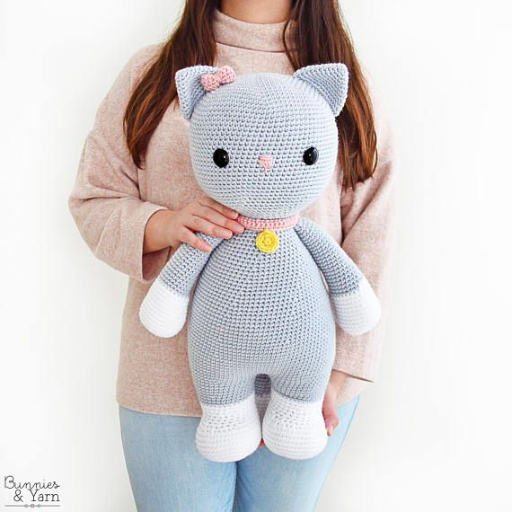 CROCHET PATTERN in English and Spanish - Frida the Friendly Cat ...