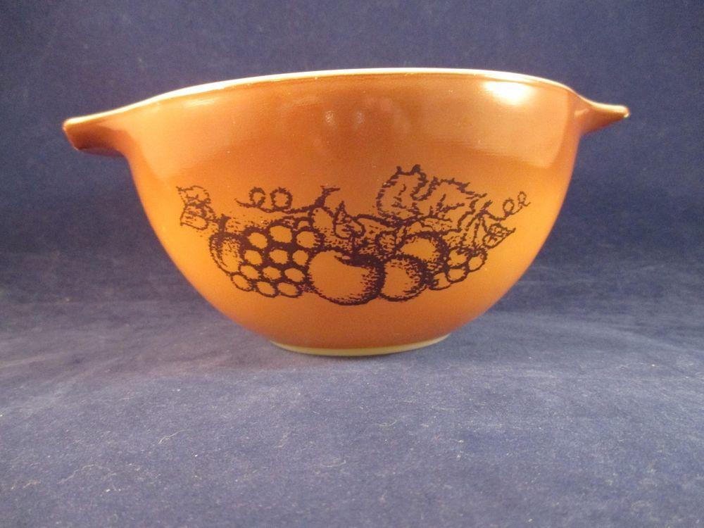 Vintage Pyrex Old Orchard Ombre Gold Brown Fruit Cinderella 1.5 Pint ...