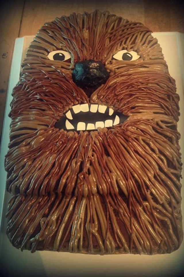 Chewbacca Birthday Cake For The Hubby Found Pinned Made