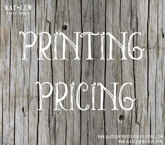 Price List for Printed Products & Digital by katleminvitations, $1.00
