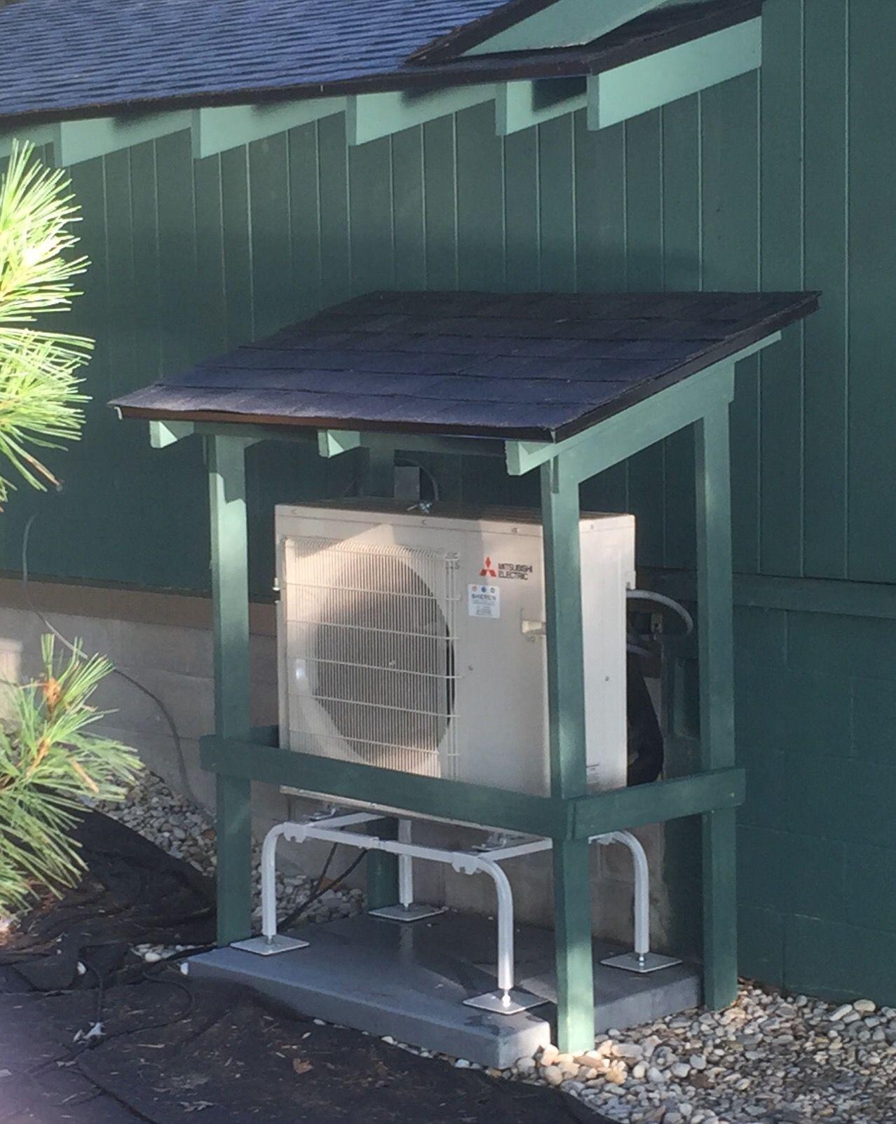 Cover For Heat Pump Compressor Mini Split Roof