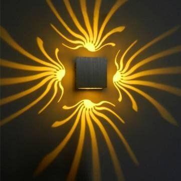 Modern High Power 3W Flower Swan LED Decoration Sconce Wall Light ...