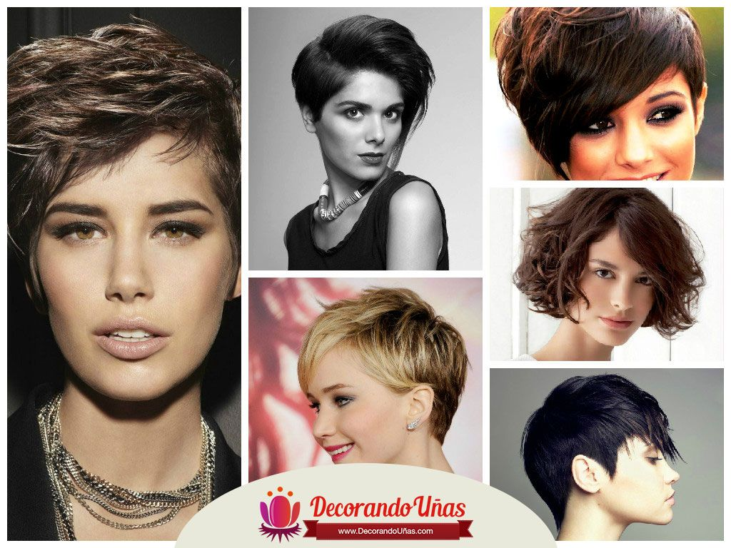 ideas de peinados y cortes de pelo corto para mujeres http