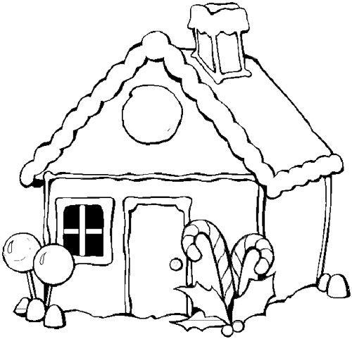 Casa navidad - Dibujos para pintar | Curiosidades | Pinterest | Deutsch