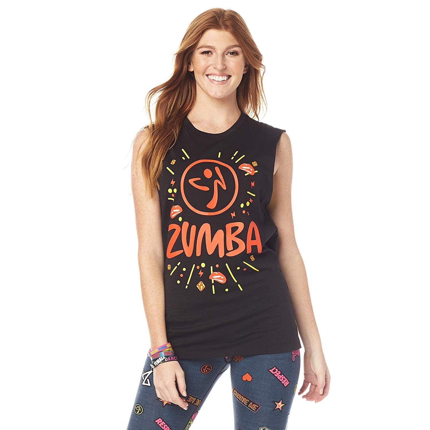 Zumba Fitness Unisex Top Unisex Workout Tank Top with Fashion Print