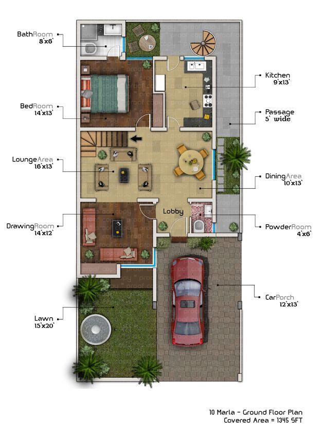 10 marla house plan with basement | 10 marla house plan ...