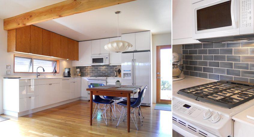 A simple kitchen with heath ceramic tile backsplash for Dimensional tile backsplash