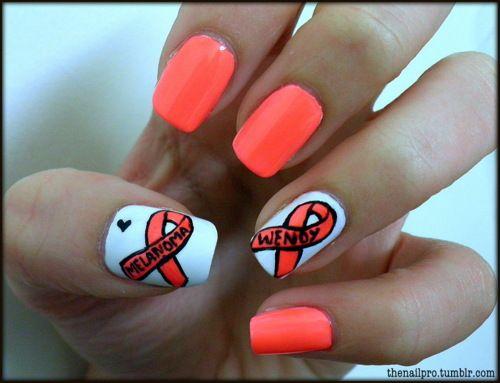 Flashy Cancer Nails Nails Hair And Nails