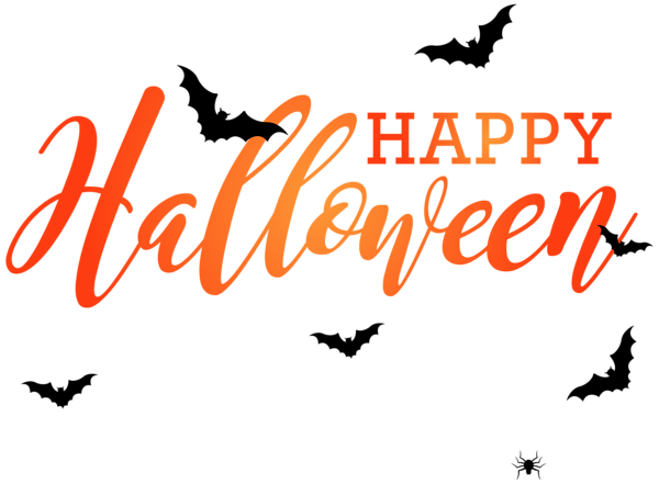 Happy Halloween With Bats Png Clip Art Image Halloween Clipart Free Halloween Text Free Halloween