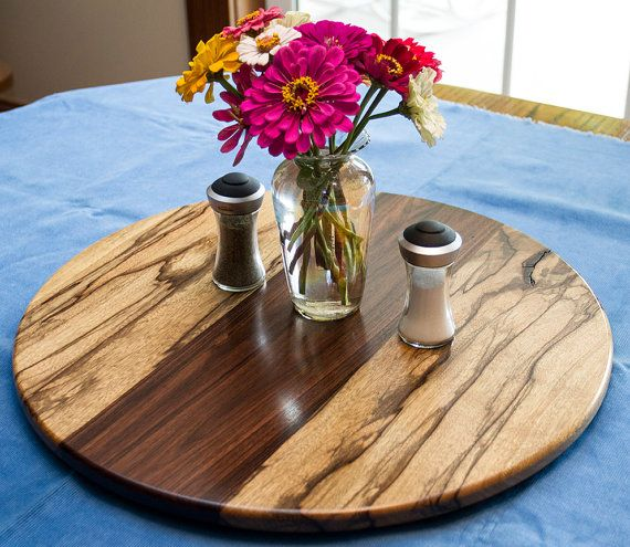 a lazy susan should be the center piece of the table the striking contrast between