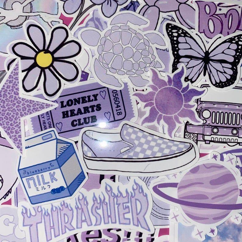 Purple Aesthetic Stickers Di 2021 Wallpaper Kupu Kupu Kupu Kupu