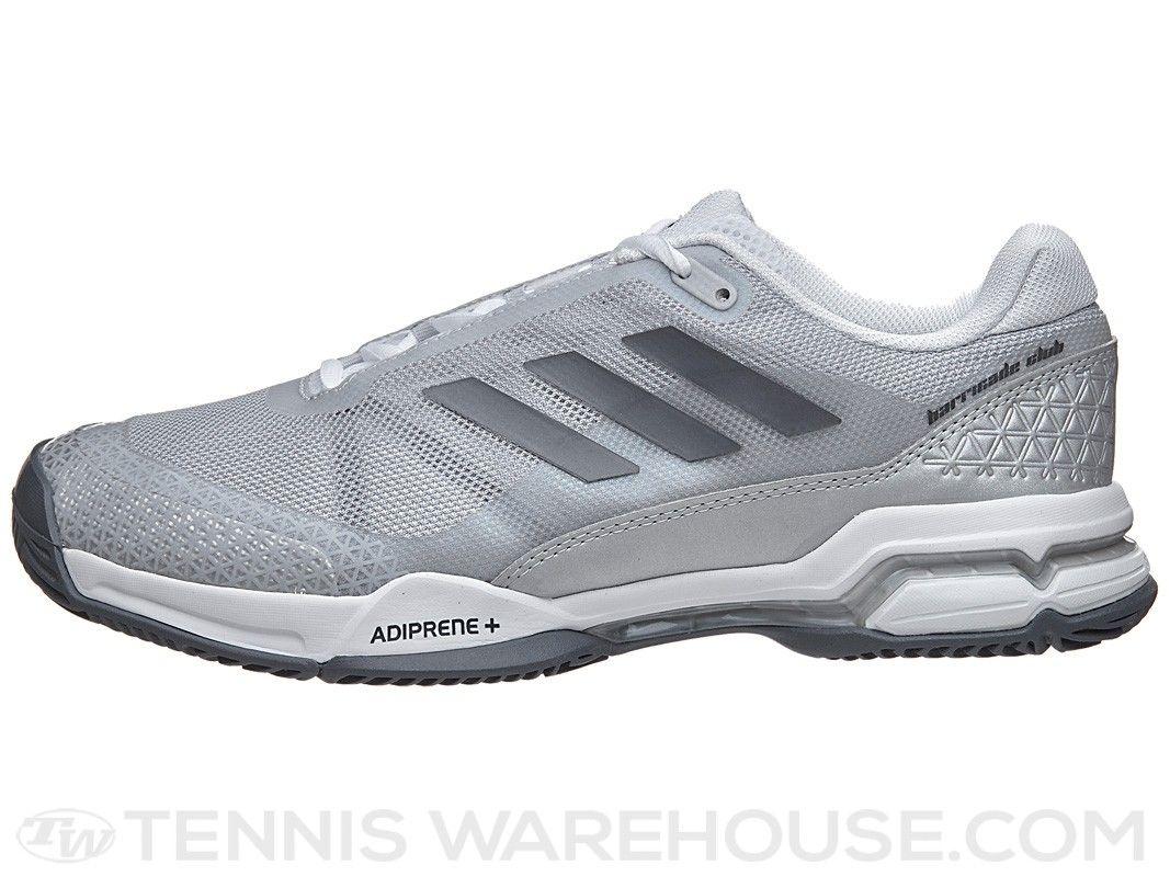 bd2c2548db83 adidas Barricade Club White Silver Black Men s Shoe