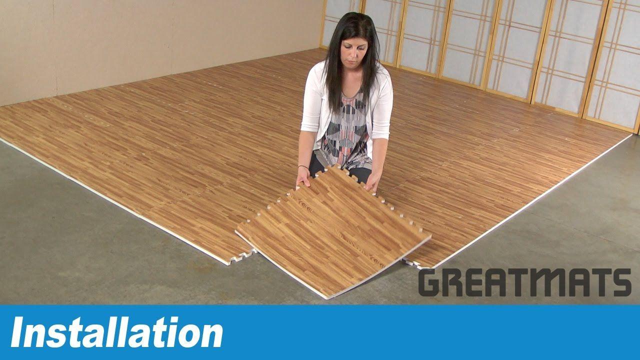 How To Install Greatmats Wood Grain Foam Tiles Foam Tiles Wood