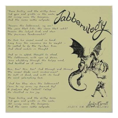 Jabberwocky Poem Poster   Zazzle.com