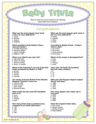 Baby Trivia Party Game Party Ideas Baby Shower Printables Baby